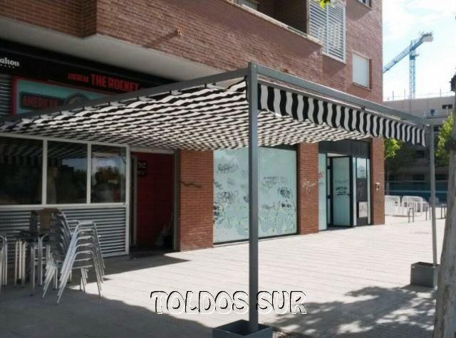 Trabajos realizados de toldos sur las rozas madrid - Toldos terraza bar ...