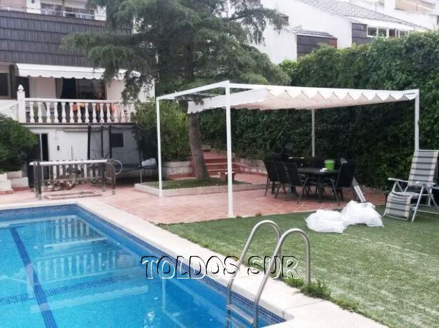 Lona para patio excellent cobertores para picinas with for Toldos de lona para patios