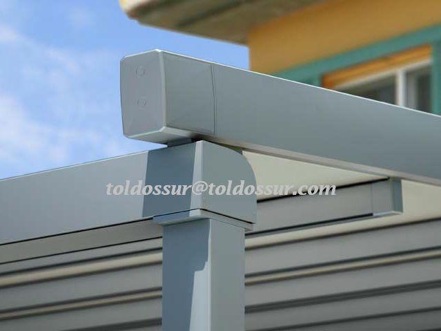 perfil de aluminio de mm x mm prgola estanca modelo s estanca