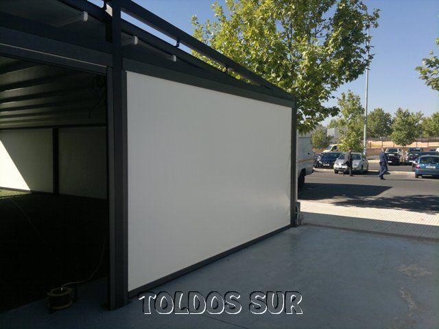 Toldos verticales para exterior cargando zoom with toldos for Material para toldo