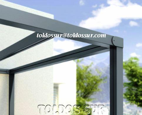 prgola de aluminio lneas rectas modelo s 125 - Pergola Aluminio